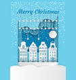merry christmas white residential buildings vector image vector image