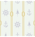 pattern ship accessories vector image