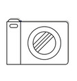 photo camera icon in black silhouette vector image vector image