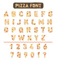 pizza font vector image vector image