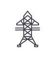power line line icon sign on vector image vector image