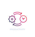 productivity icon line art vector image vector image