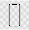 realistic smartphone shape a modern mobile vector image