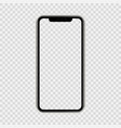 realistic smartphone the shape a modern mobile vector image