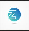 round symbol letter z design minimalist vector image vector image