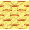 Seamless background hot pizza vector image vector image