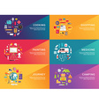Set of Flat Style for Web Banners or Promotional vector image vector image