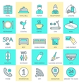 Set of hotel icons line Hotel service Logo vector image vector image