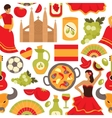 Spain seamless pattern vector image