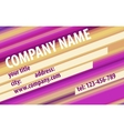 Striped Modern Abstract Business - Card Design vector image vector image