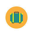stylish icon in color circle travel suitcase vector image vector image