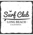 Surf club concept vector image vector image