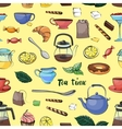 Tea Time Pattern vector image