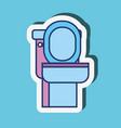 toilet cartoon clean sticker bathroom vector image