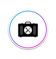 toolbox icon isolated on white background circle vector image