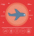 transportation logistics design vector image
