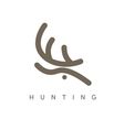 abstract design template of deer head vector image