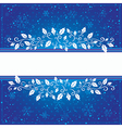Winter blue card vector image