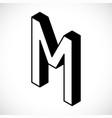 3d letter m logo icon design template element vector image