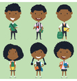 African american school boys and girls vector image vector image