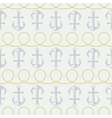 anchor pattern and twisted rope vector image vector image
