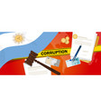 argentina corruption money bribery financial law vector image vector image