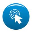 arrow cursor click icon blue vector image