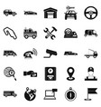 barrow icons set simple style vector image
