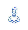 beard man line icon concept beard man flat vector image