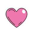 beutiful pink heart related with romantic and love vector image vector image