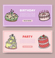 birthday party or wedding anniversary set vector image