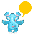 blue elephant welcoming vector image vector image