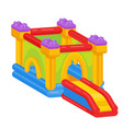 bouncy castle icon outdoor playground and vector image