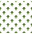 Broccoli pattern cartoon style vector image