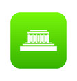 building icon digital green vector image