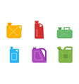 canisters or jerrycan icons set vector image