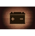 Car battery Flat modern web button and space for vector image vector image