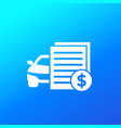 car payments loan icon vector image vector image