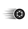 car wheel moving vector image vector image