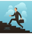 Career business conceptual with vector image vector image