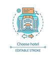 choose hotel concept icon vector image vector image