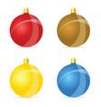 christmas ball colored set vector image vector image
