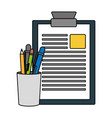clipboard report pencil case filled vector image vector image