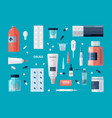 collection of drugs pills medicines syrups vector image