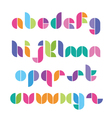 color font from geometrical figures vector image