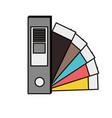 color guide palette picker vector image vector image