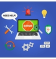 Concept computer technical support service vector image
