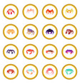 Crab icon circle vector image
