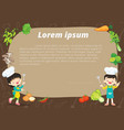 cute boy and girl cooking class vector image