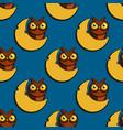 cute cartoon style owls seamless pattern vector image